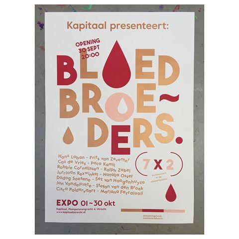 poster bloedbroeders kapitaal utrecht grafisch exposite frits